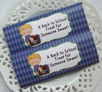 Back To School Boy Large Candy Bar Wrappers