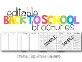 Back To School Brochures [Editable]
