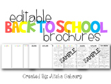 Back To School Brochures [Editable]