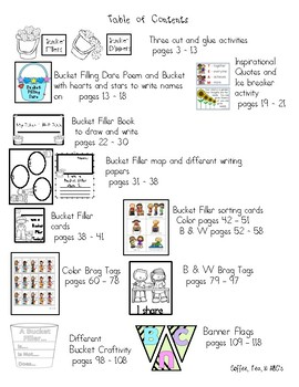 Back To School / Bucket Filler Activities