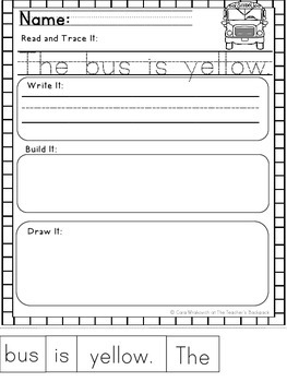 Back To School Build It: Word Work FREEBIE