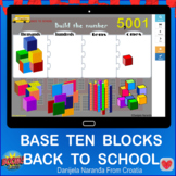 Back To School Build The 4 Digit Number Base Ten Blocks Pl
