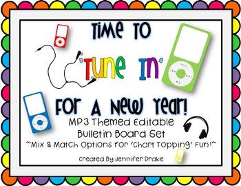 Back To School Bulletin Board Set ~MP3 Theme Set~  *EDITABLE* ~Mix & Match!~