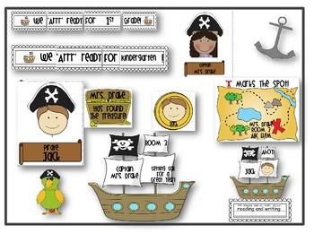 Back To School Bulletin Board Set ~Pirate Theme~  **EDITABLE**  Set of 3