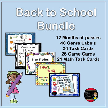 Back To School Bundle Activities
