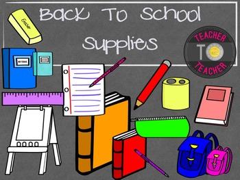 Back To School Bundle 2 {TeacherToTeacher Clipart}