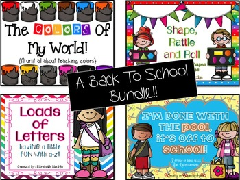 Back To School Bundle{Colors, Shapes, Letters and Review of Basic Skills}
