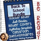 Back To School Bundle For Secondary Teachers- English Focus