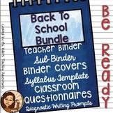 Back To School Bundle For Secondary Teachers- English Focus