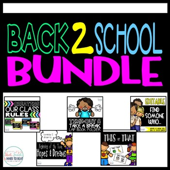 Back To School Bundle: Rules, Behavior, and Ice Breakers