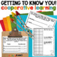 Back To School Bundle: Reading, Writing, Getting to know you
