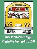 Back To School Bus Glyph