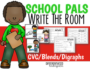 Back To School CVC - Blends - Digraphs Write the Room Fun