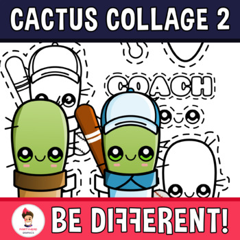 Back To School - Cactus Dress Up 2 Collage Clipart