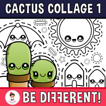 Back To School - Cactus Happy Day Collage Clipart