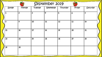 Back To School Calendar 2018-2019