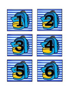 Back To School Calendar Numbers (6 sets) 1-31