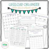 Caseload Organizer- Speech Therapy, Occupational Therapy, Physical Therapy