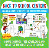 Back To School Centers, Word Work, and Activities BUNDLE!