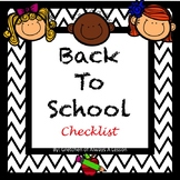 Back To School Checklist- Preparing Yourself and your Classroom!