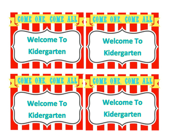 Back To School Circus Post Cards