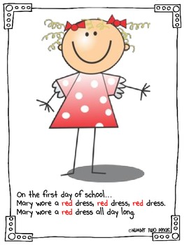 Back To School Class Book: What We Wore...