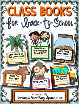 Back To School Class Books --- Class Books for August