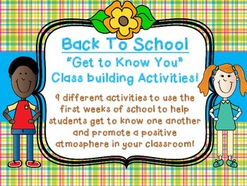 Back To School Class Team Builder Get to Know You 9 Activities