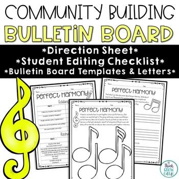 Back To School Classroom Community Bulletin Board
