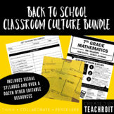 Classroom Culture Bundle (Syllabus, Surveys, Activities & More!)