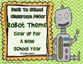Back To School Classroom Decor-Robot Theme