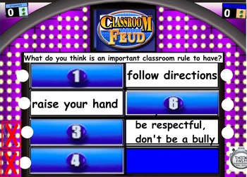 Back To School Classroom Feud game flipchart