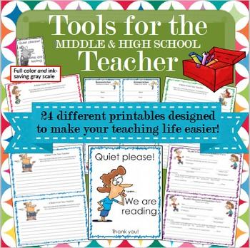 Forms for Teachers and Posters for Classrooms