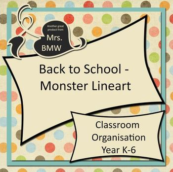 Back To School - Classroom Organisation Kit with Monsters!