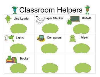 Back To School Classroom Organizer Set Frog Theme