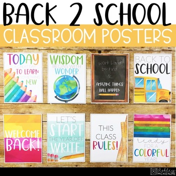 Back To School Classroom Posters - 5 Minute Bulletin Board!