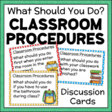 Back To School Classroom Procedures Discussion Cards