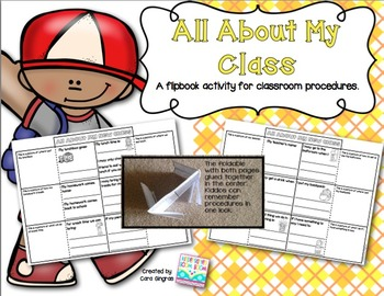 Back To School Classroom Procedures  {K-2} FREEBIE