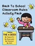 Back To School PBIS Classroom Rules Activity Pack Featuring the 4 Bees