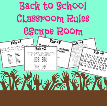 Back To School Classroom Rules Escape Game YOUR RULES