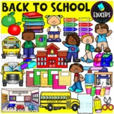 Back To School Clip Art Bundle {Educlips Clipart}