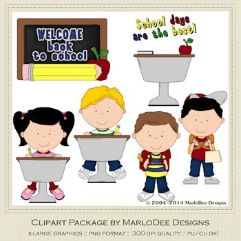 Back To School Clip Art Graphics Set 1
