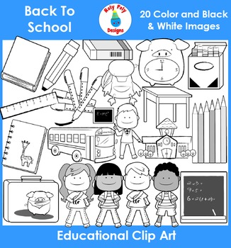 Back To School Clip Art by Roly Poly Designs