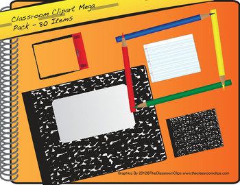 Back To School ClipArt Mega Pack - 80 Items