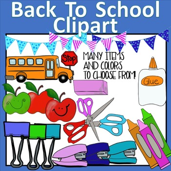 Back To School Clipart Bundle! Color and Black and White!