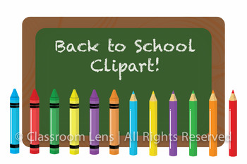Back To School Clipart Set!