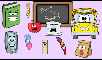 Back To School- Cliparts Creator Kit- For Personal or Commercial use