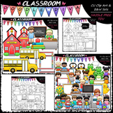 Back To School Clip Art & B&W Bundle