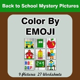 Back To School: Color by Emoji - Mystery Pictures