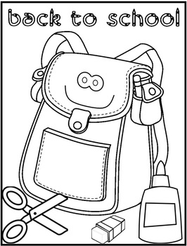 Back To School Coloring Page - FREEBIE